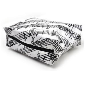Music Manuscript Black & White Washbag /  Make Up Bag Thumbnail 3