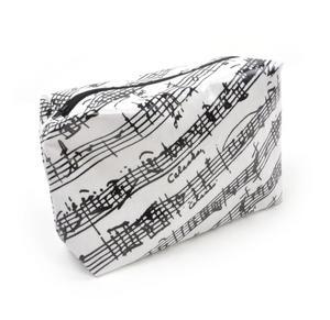 Music Manuscript Black & White Washbag /  Make Up Bag Thumbnail 4