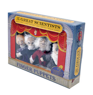Great Scientists Finger Puppet Set - Curie / Einstein / Newton / Darwin