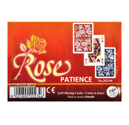 Rose Patience 2 x 55 Playing Cards