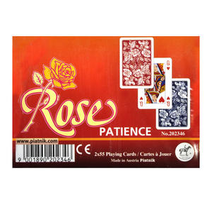 Rose Patience 2 x 55 Playing Cards Thumbnail 1