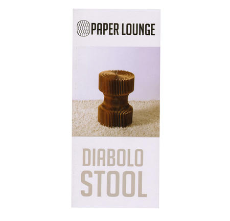 Diabolo Stool & Felt Top by Paper Lounge - Portable Concertina Design  / Supports up to 100kg