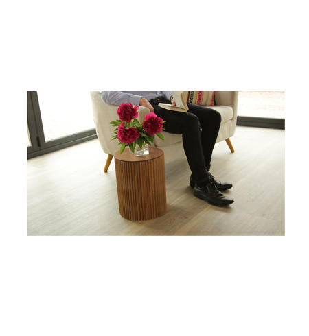 Large Occasional Table & Clear Top by Paper Lounge - Portable Concertina Design / Supports up to 300kg
