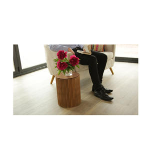 Large Occasional Table & Clear Top by Paper Lounge - Portable Concertina Design / Supports up to 300kg Thumbnail 1