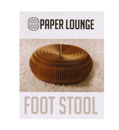 Foot Stool & Felt Top by Paper Lounge - Portable Concertina Design  / Supports up to 100kg