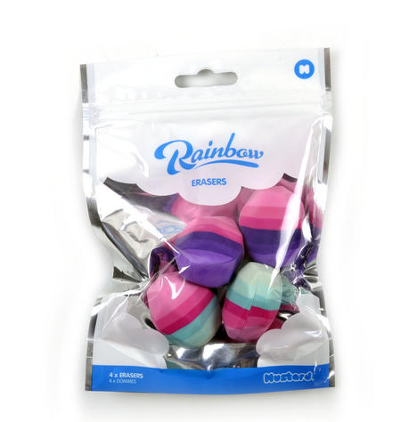 Rainbow Erasers - Pack of Four