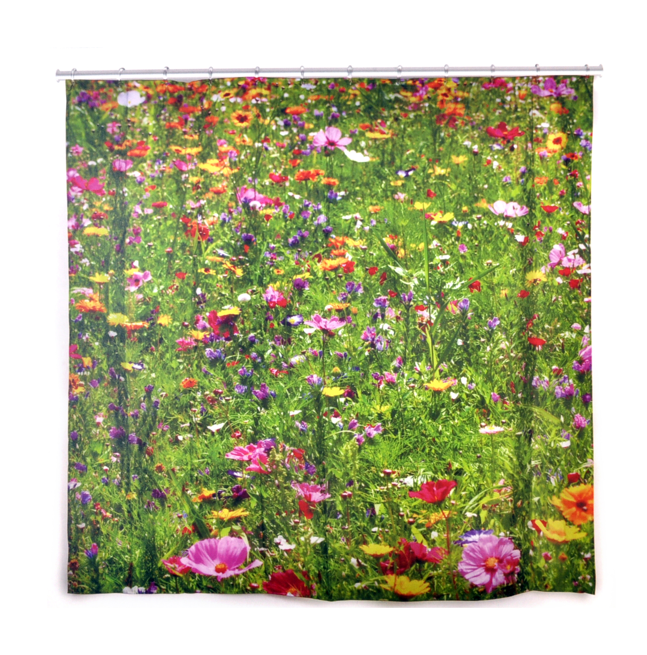 Flower Shower Curtain 180 x 200 cm / 70 x 79 inches | Pink Cat Shop