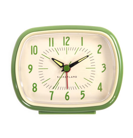 Retro Alarm Clock with Luminous Hands 11 x 9 x 6 cm / 4 x 3  x 2 inches