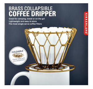 Brass Collapsible Coffee Dripper Thumbnail 3