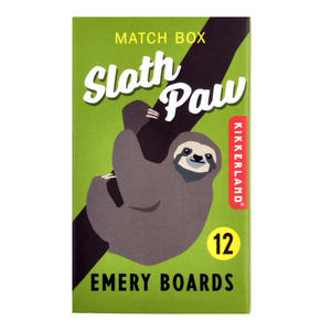 Sloth Paw Match Box Emery Boards Thumbnail 1