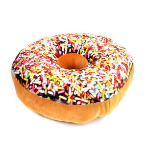 35cm / 14 inch Donut Pillow - Sprinkles Doughnut Replicushion