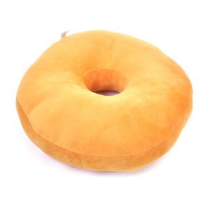 35cm / 14 inch Donut Pillow - Pink Stripe Doughnut Replicushion Thumbnail 2