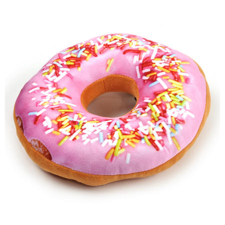 24cm / 9 inch Donut Pillow - Pink Sprinkles Doughnut Replicushion