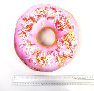 24cm / 9 inch Donut Pillow - Pink Sprinkles Doughnut Replicushion Thumbnail 2