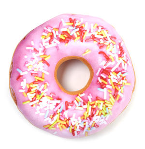 24cm / 9 inch Donut Pillow - Pink Sprinkles Doughnut Replicushion Thumbnail 3