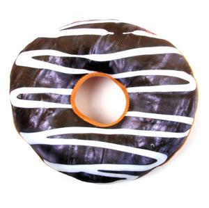 24cm / 9 inch Donut Pillow - Chocolate Doughnut Replicushion Thumbnail 3
