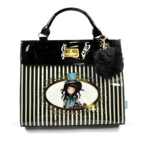 The Hatter - Large Shoulder Bag in Gorjuss Stripes