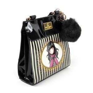 Ladybird - Large Shoulder Bag in Gorjuss Stripes Thumbnail 7