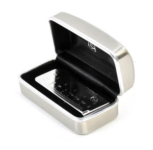 Measure Ruler Rhodium Plate Money Clip Thumbnail 3