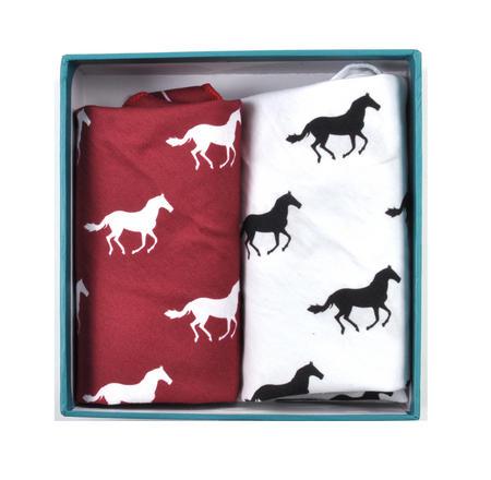 Galloping Horses - Handkerchief Pocket Plumage Box Set