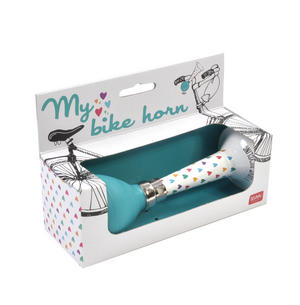 My Bike Horn - Lovehearts - I Love Bicycling Blue Classic Bicycle Horn