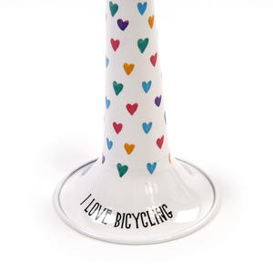 My Bike Horn - Lovehearts - I Love Bicycling Blue Classic Bicycle Horn Thumbnail 2