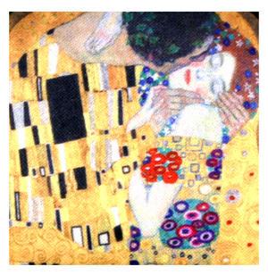 Gustav Klimt The Kiss Compact Mirror Thumbnail 4