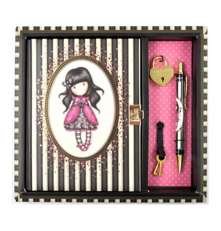 Ladybird - Gorjuss Stripes Lockable Notebook