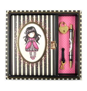 Ladybird - Gorjuss Stripes Lockable Notebook Thumbnail 1