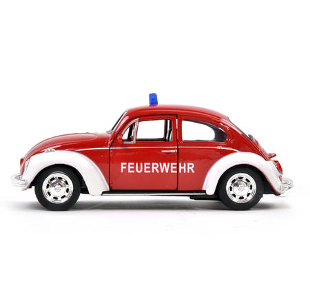 Volkswagen Beetle - Red Feuerwehr German Model Fire Brigade Car