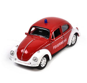 Volkswagen Beetle - Red Feuerwehr German Model Fire Brigade Car Thumbnail 2