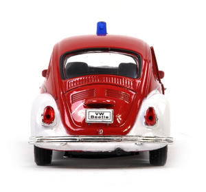 Volkswagen Beetle - Red Feuerwehr German Model Fire Brigade Car Thumbnail 3