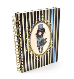 The Hatter - Gorjuss Stripes Large Wiro-Bound Journal Thumbnail 1