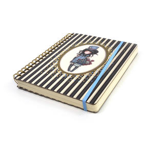 The Hatter - Gorjuss Stripes Large Wiro-Bound Journal Thumbnail 2