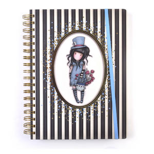 The Hatter - Gorjuss Stripes Large Wiro-Bound Journal Thumbnail 3