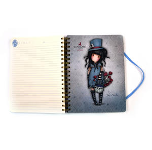 The Hatter - Gorjuss Stripes Large Wiro-Bound Journal Thumbnail 5