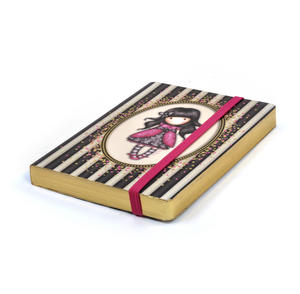 Ladybird - Gorjuss Stripes A6 Foiled Notebook Thumbnail 1