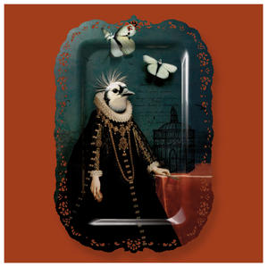 Pia - Galerie De Portraits - Le grand theatre - Surreal Wall Tray Art Masterwork by iBride Thumbnail 3