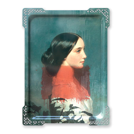 Ida Variations Number One - Galerie De Portraits - Surreal Wall Tray Art Masterwork by iBride