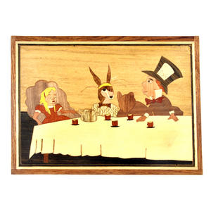 Alice in Wonderland Tea Party Secret Marquetry Stash Box with Invisible Opening System 15 x 20cm Thumbnail 3