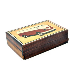 Camper Van Secret Marquetry Stash Box with Invisible Opening System 11 x 17cm Thumbnail 3