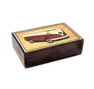Camper Van Secret Marquetry Stash Box with Invisible Opening System 11 x 17cm Thumbnail 5
