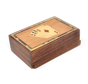 Four Aces Secret Marquetry Stash Box with Invisible Opening System 8 x 12 cm Thumbnail 2