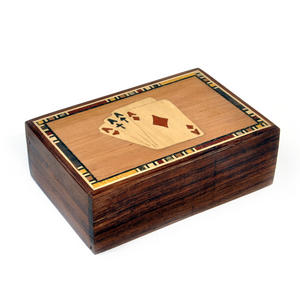 Four Aces Secret Marquetry Stash Box with Invisible Opening System 8 x 12 cm Thumbnail 5