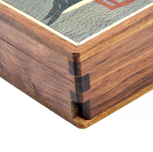 Puffin Secret Marquetry Stash Box with Invisible Opening System 8 x 8 cm Thumbnail 3