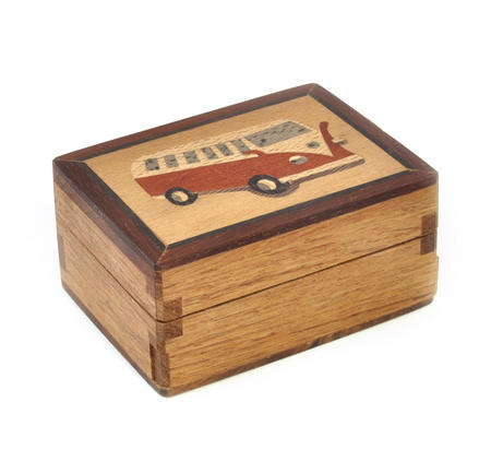 Volkswagen Camper Van Secret Marquetry Stash Box with Invisible Opening System 8 x 6 cm