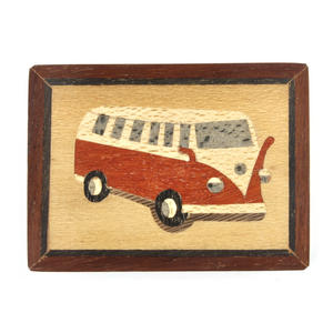 Volkswagen Camper Van Secret Marquetry Stash Box with Invisible Opening System 8 x 6 cm Thumbnail 2