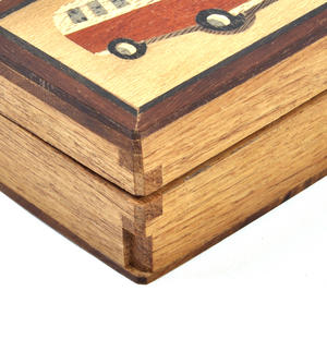 Camper Van Secret Marquetry Stash Box with Invisible Opening System 8 x 6 cm Thumbnail 3