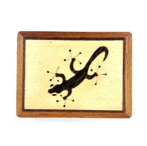 Lizard Secret Marquetry Stash Box with Invisible Opening System 8 x 6 cm Thumbnail 2