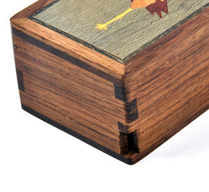 Flamingo Secret Marquetry Stash Box with Invisible Opening System 8 x 6 cm Thumbnail 2